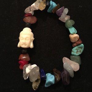 Jewelry - Lava stone and gem stone bracelet